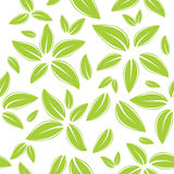Modelo inconsútil con las hojas verdes Imagen de archivo