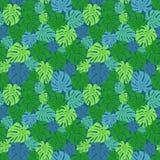 Modelo inconsútil con las hojas verdes Imagen de archivo libre de regalías