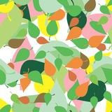 Modelo inconsútil con las hojas y las manchas blancas /negras coloreadas en estilo del grunge Imagen de archivo libre de regalías