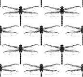 Modelo inconsútil con las libélulas Ilustración del Vector