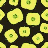 Modelo inconsútil con las manzanas Foto de archivo libre de regalías