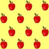 Modelo inconsútil con las manzanas Fotos de archivo
