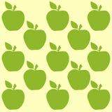 Modelo inconsútil con las manzanas Foto de archivo