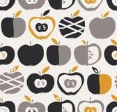 Modelo inconsútil con las manzanas Imagen de archivo libre de regalías
