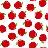 Modelo inconsútil con las manzanas rojas stock de ilustración