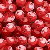 Modelo inconsútil con las manzanas rojas. ilustración del vector