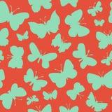 Modelo inconsútil con las mariposas Fotografía de archivo libre de regalías