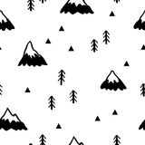Modelo inconsútil con las montañas Ilustración del vector ilustración del vector