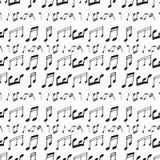 Modelo inconsútil con las notas de la música libre illustration