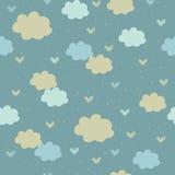 Modelo inconsútil con las nubes Imagen de archivo libre de regalías
