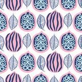 Modelo inconsútil con las nueces y las hojas en estilo moderno Teture rosado p?rpura exhausto de la repetici?n de las nueces de l libre illustration