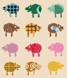 Modelo inconsútil con las ovejas libre illustration