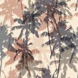 Modelo inconsútil con las palmeras Imagenes de archivo