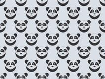Modelo inconsútil con las pandas Panda del bozal Ilustración del vector libre illustration
