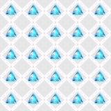 Modelo inconsútil con las piedras preciosas azules Fotografía de archivo