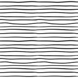 Modelo inconsútil con las rayas negras Fondo dibujado mano rayada monocromática stock de ilustración