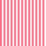 Modelo inconsútil con las rayas verticales rosadas y blancas Imágenes de archivo libres de regalías