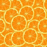 Modelo inconsútil con las rebanadas de naranja Imagen de archivo libre de regalías