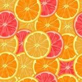Modelo inconsútil con las rebanadas de naranja Fotografía de archivo