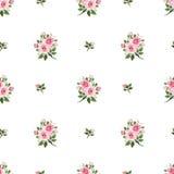 Modelo inconsútil con las rosas rosadas Ilustración del vector libre illustration