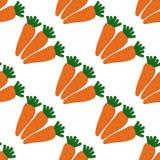 Modelo inconsútil con las zanahorias Imágenes de archivo libres de regalías