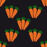 Modelo inconsútil con las zanahorias Imagen de archivo libre de regalías