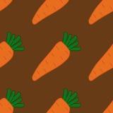 Modelo inconsútil con las zanahorias Fotografía de archivo