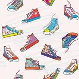 Modelo inconsútil con las zapatillas de deporte Fotos de archivo libres de regalías