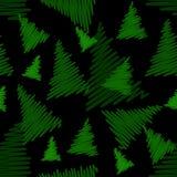 Modelo inconsútil con los árboles de navidad Fotos de archivo libres de regalías