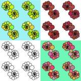 Modelo inconsútil con los círculos abstractos Vector libre illustration