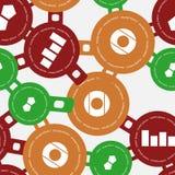 Modelo inconsútil con los círculos coloreados Imágenes de archivo libres de regalías