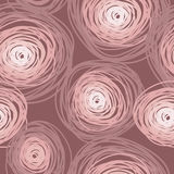 Modelo inconsútil con los círculos coloridos, color color de rosa polvoriento stock de ilustración