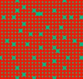 Modelo inconsútil con los círculos rojos en fondo verde Foto de archivo