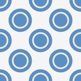 Modelo inconsútil con los círculos y los anillos azules Fotografía de archivo libre de regalías