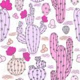 Modelo inconsútil con los cactus libre illustration