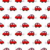 Modelo inconsútil con los coches Foto de archivo libre de regalías