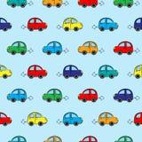 Modelo inconsútil con los coches multicolores Fotografía de archivo