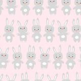Modelo inconsútil con los conejos Fotos de archivo
