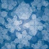 Modelo inconsútil con los copos de nieve Imagen de archivo libre de regalías