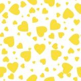 Modelo inconsútil con los corazones amarillos Ilustración del vector Elementos decorativos para el diseño trabajo de arte creativ libre illustration