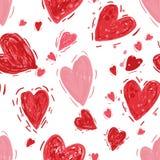 Modelo inconsútil con los corazones Fondo del día de tarjetas del día de San Valentín ilustración del vector