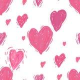 Modelo inconsútil con los corazones Fondo del día de tarjetas del día de San Valentín libre illustration