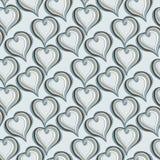 Modelo inconsútil con los corazones grises abstractos Imagen de archivo libre de regalías