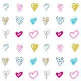 Modelo inconsútil con los corazones para los días de tarjetas del día de San Valentín o el día de boda ilustración del vector