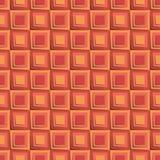 Modelo inconsútil con los cuadrados anaranjados 3d Imagen de archivo