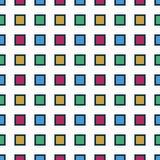 Modelo inconsútil con los cuadrados coloridos Imagen de archivo libre de regalías
