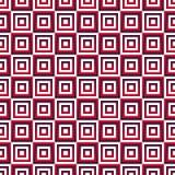 Modelo inconsútil con los cuadrados rojos de la pendiente Imagenes de archivo
