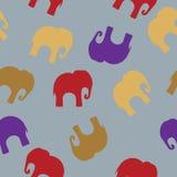 Modelo inconsútil con los elefantes coloridos para la materia textil, cubierta de libro, empaquetando libre illustration