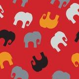 Modelo inconsútil con los elefantes coloridos para la materia textil, cubierta de libro, empaquetando ilustración del vector