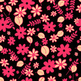 Modelo inconsútil con los elementos florales Foto de archivo libre de regalías